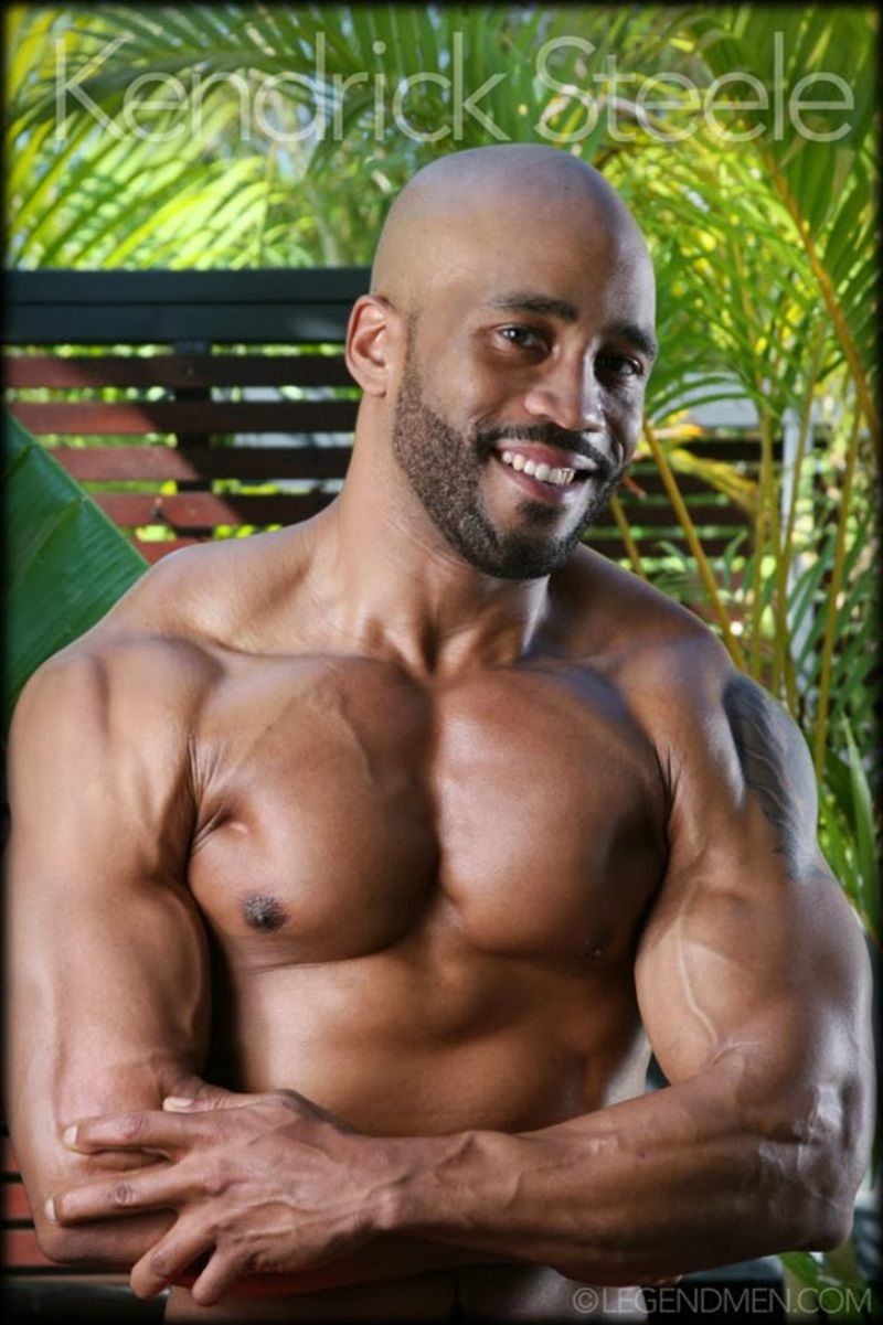 Kendrick Steele  Gay Porn Star Pics  Nude Black Muscle -7029
