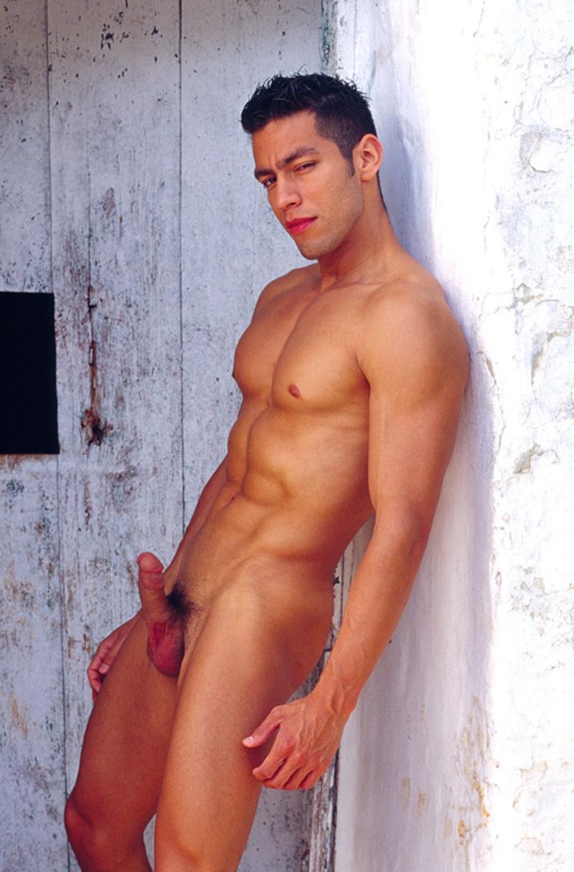 Ricky  Gay Porn Star Pics  Nude Latin Man  Big Cock -5477