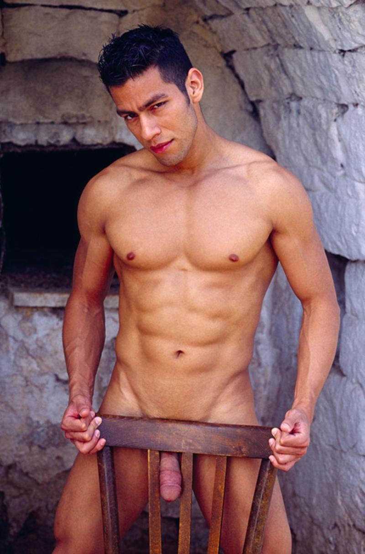 Latino man nude