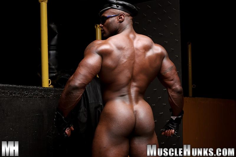 Leon Jackson  Gay Porn Star Pics  Huge Black Muscle Cock