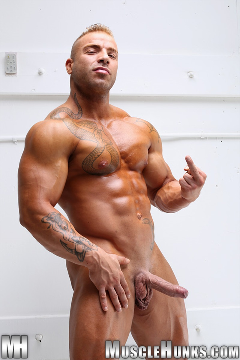 Max Hilton  Nude Bodybuilder  Big Muscle Dick  Gay Porn -3346
