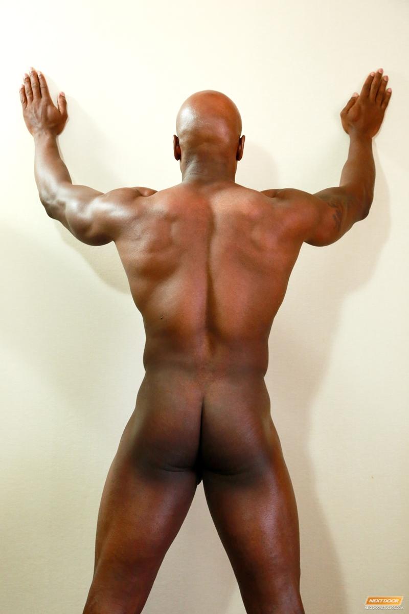 Muscular Ebony Hunk Doggystyling Tight Ass
