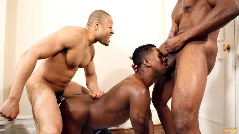Ebony Gay Threesome