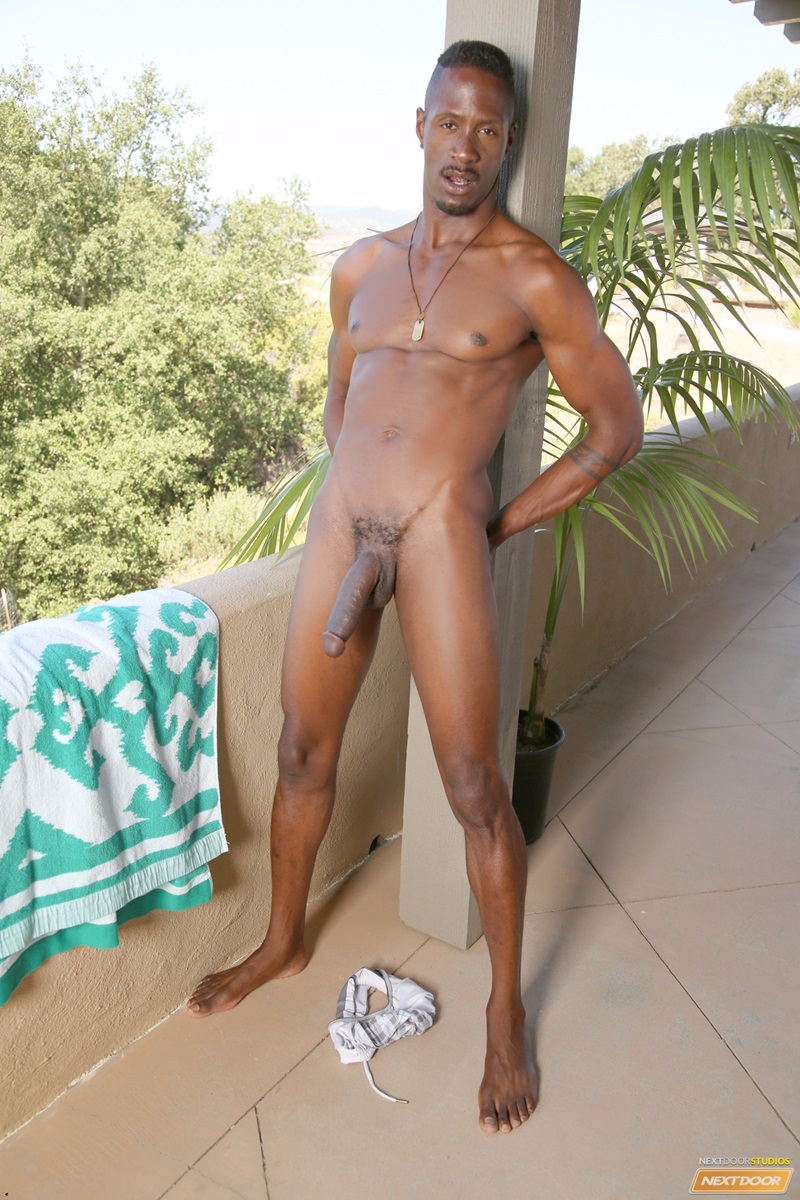 Derek Maxums Jerks His Massive Long Black Dick  Gay Porn -4946