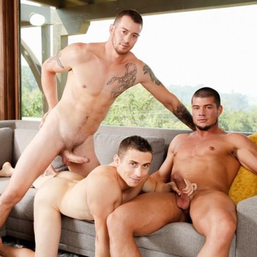 Weekend threesome erection