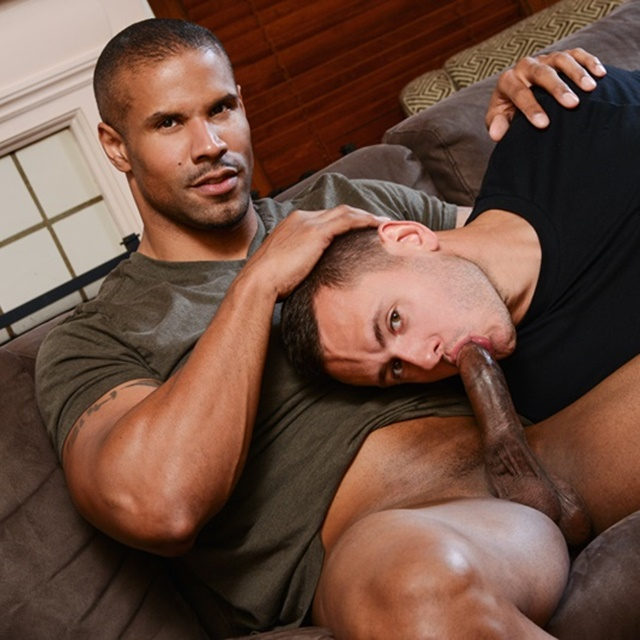 Sexy Black Soccer Fan Robert Axel Kisses Fellow Hunk -7399