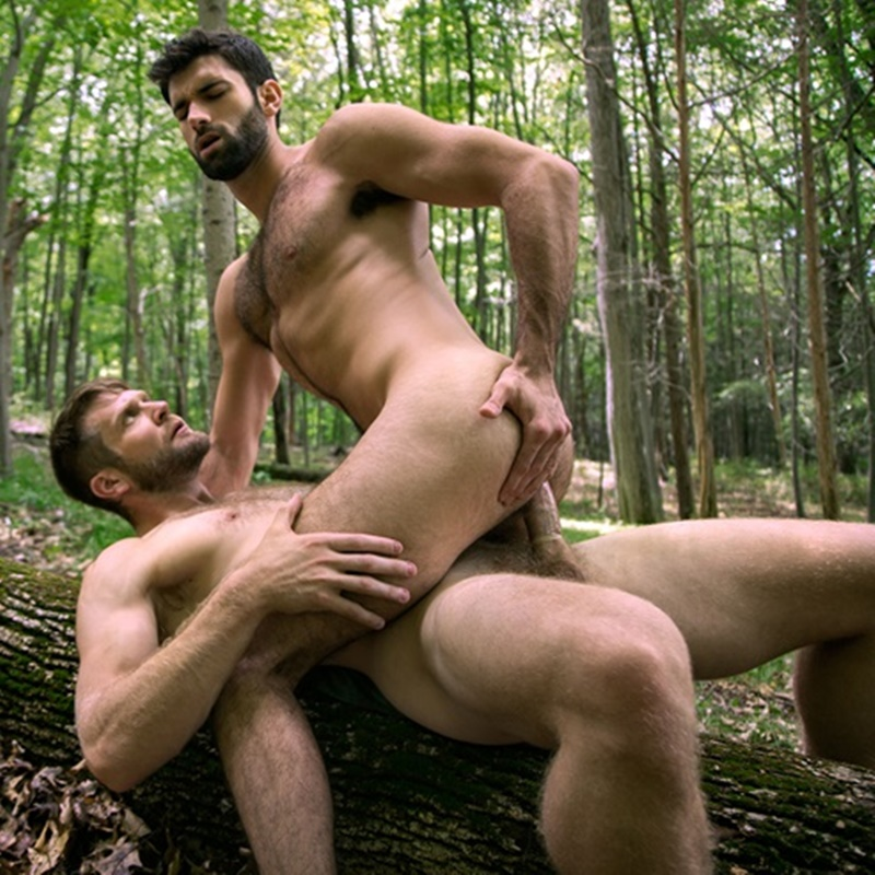 Gay Men Tied Up Outdoors Public Anal Sex By The River