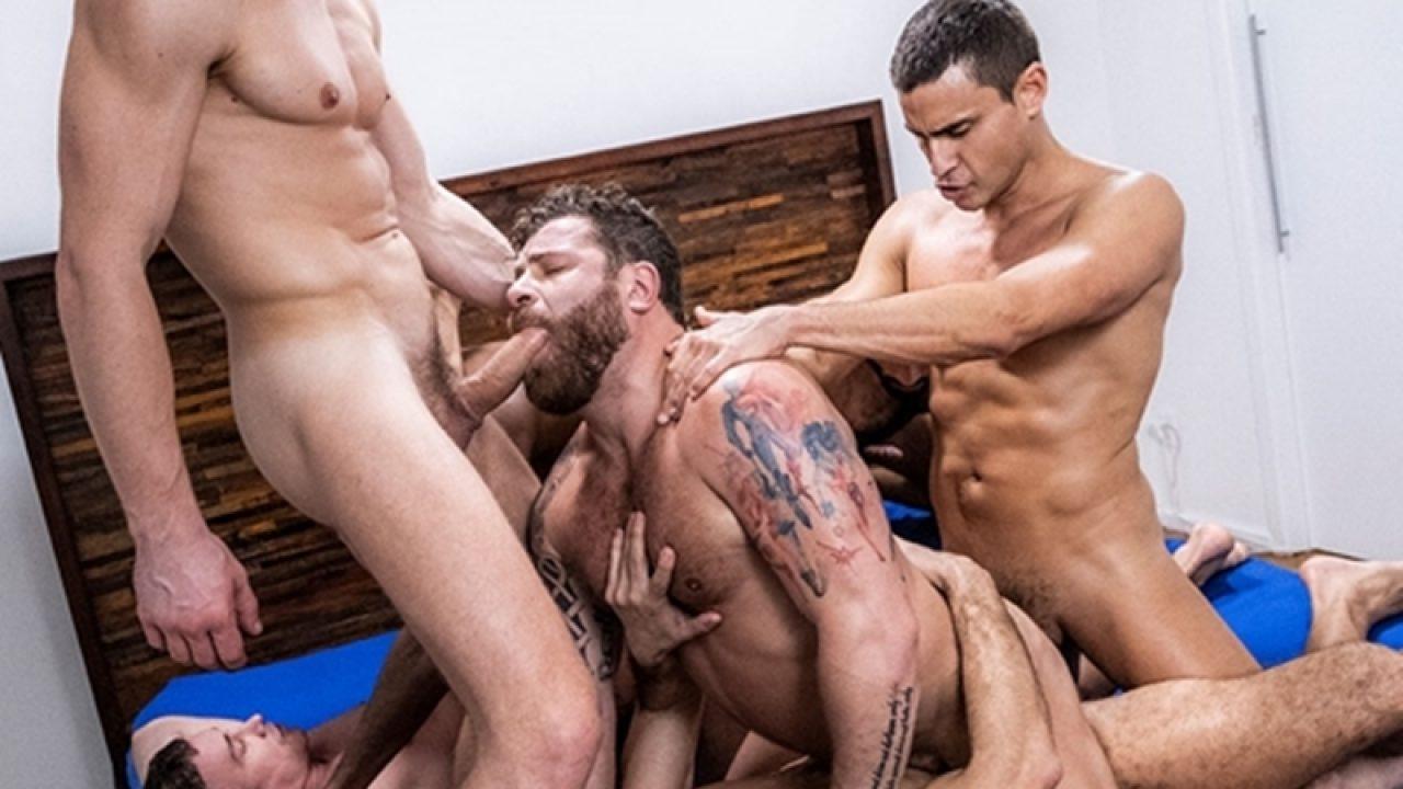 Andre Lucas Porn Gay gay group sex orgy with alexander volkov, andre donovan